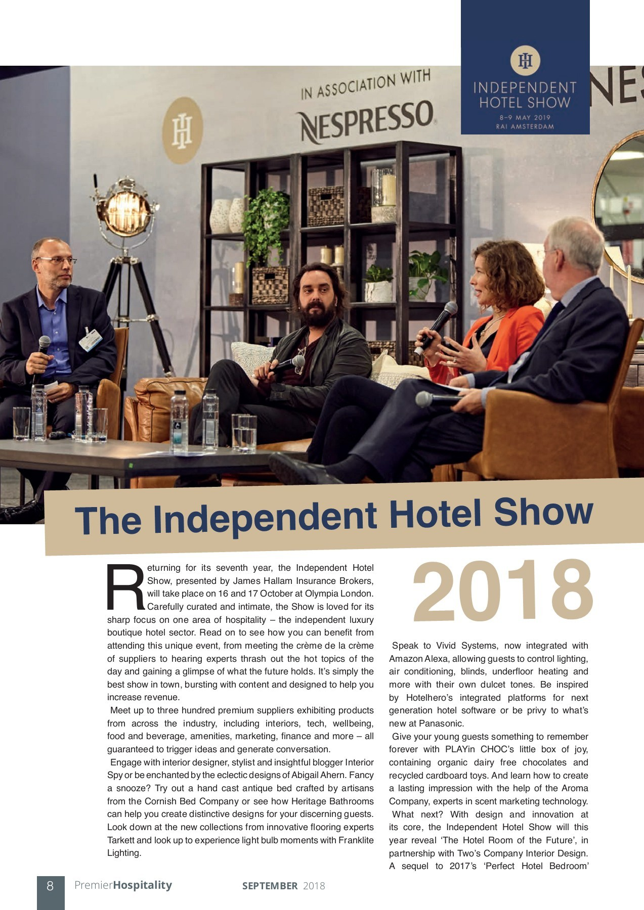 Independent Hotel Show 2018 - Premier Construction News