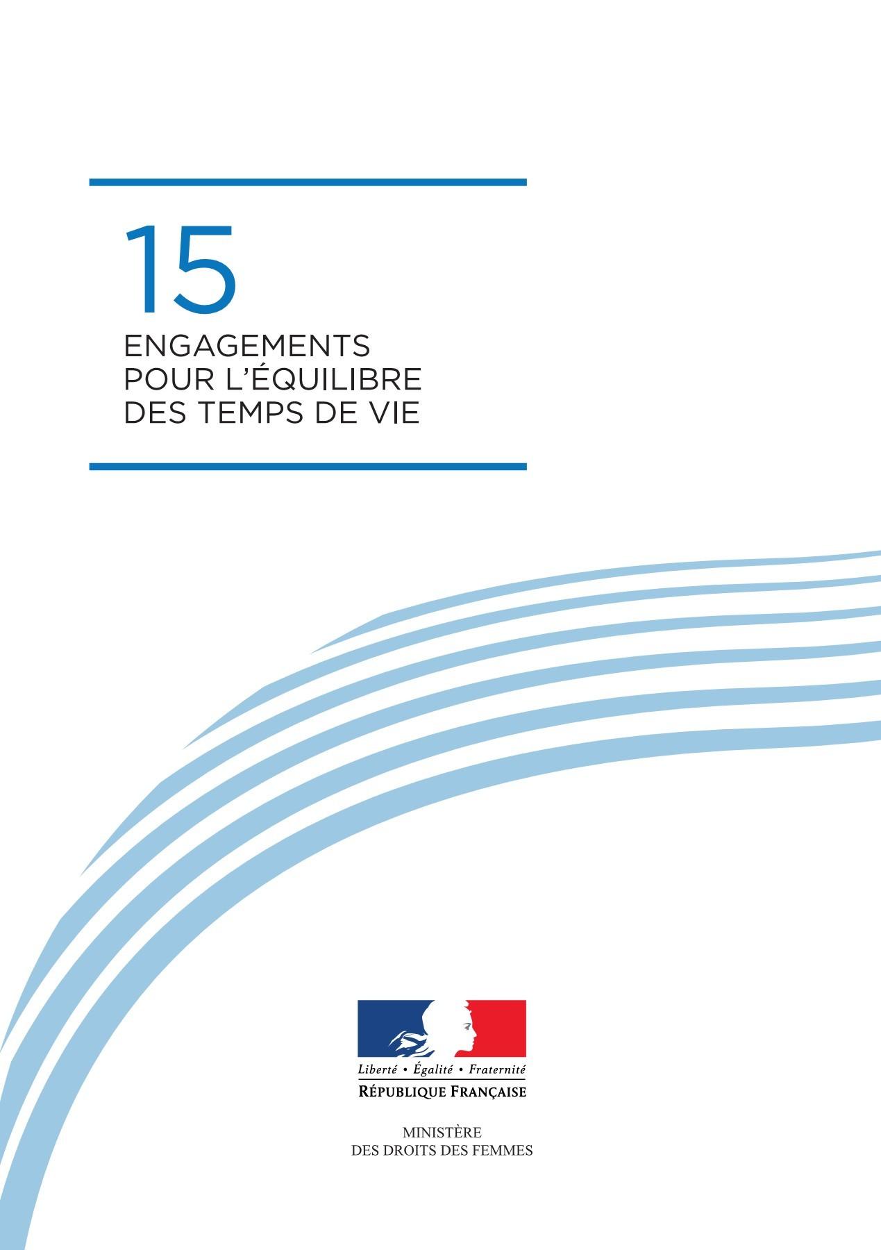 Vignette document Charte des 15 engagements pour l'équilibre des temps de vie