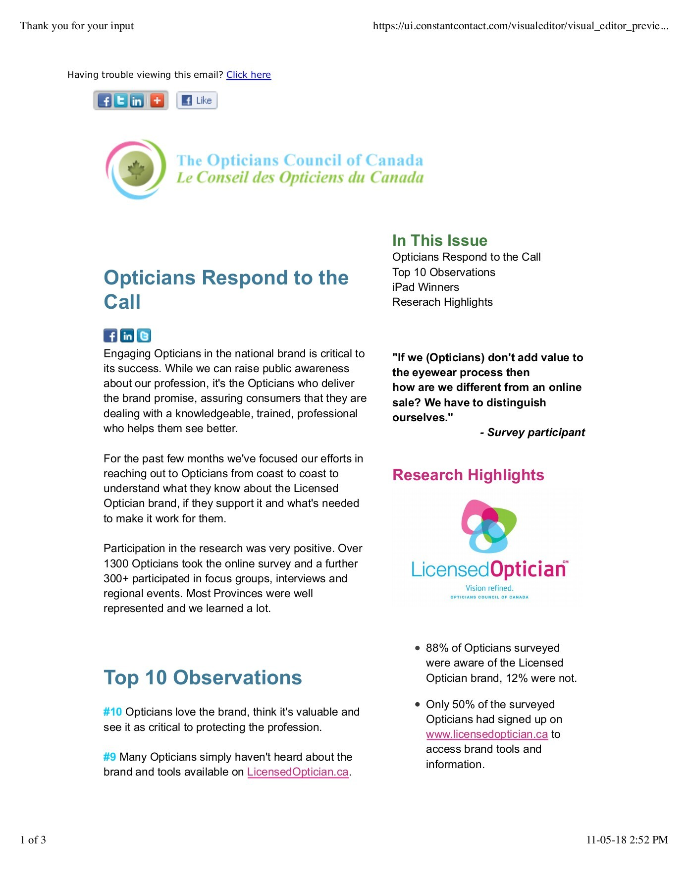 Opticians Respond To The Call Licensed Optician Fliphtml5