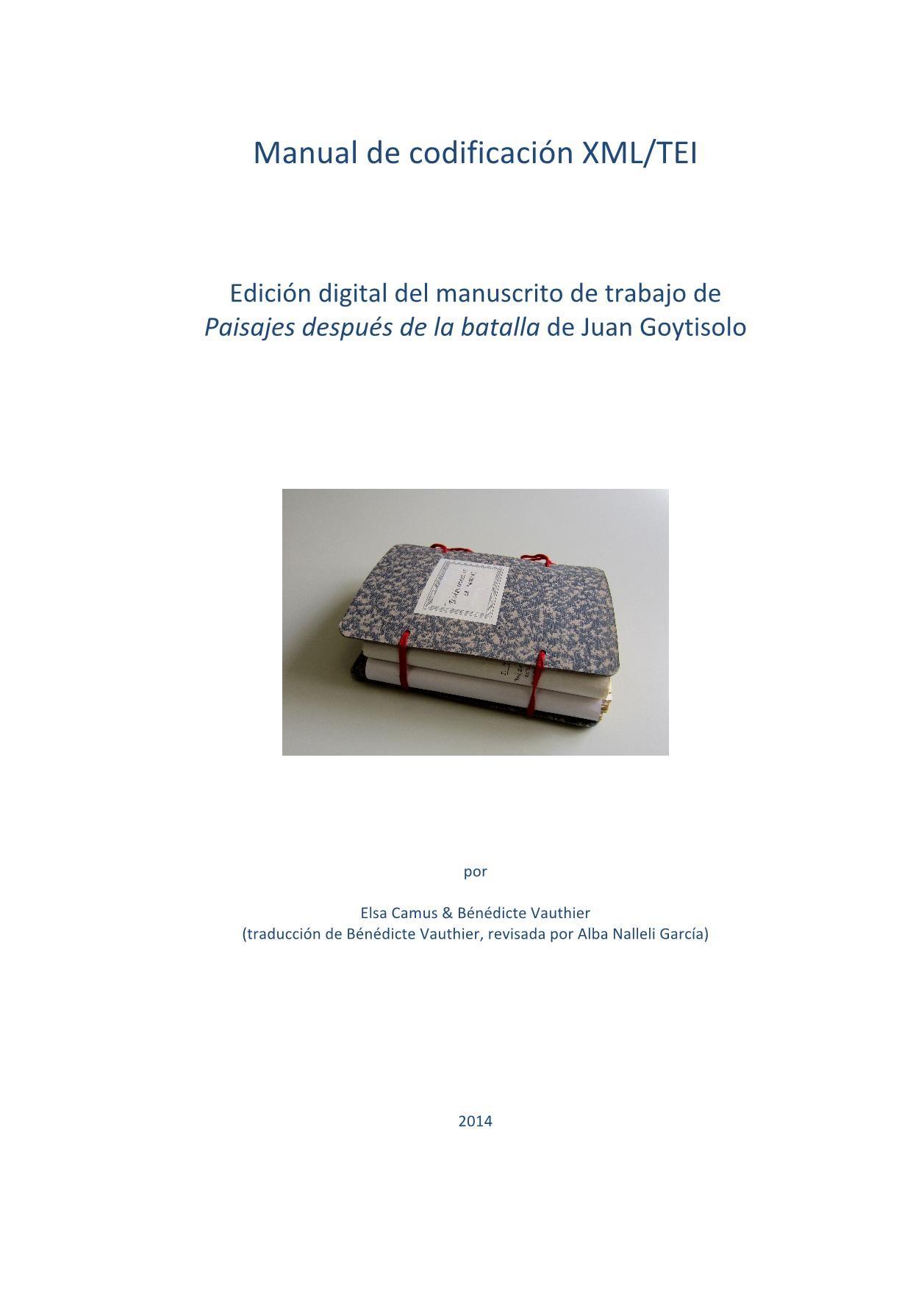 Manual de codificacion tei_version espanola | fliphtml5.