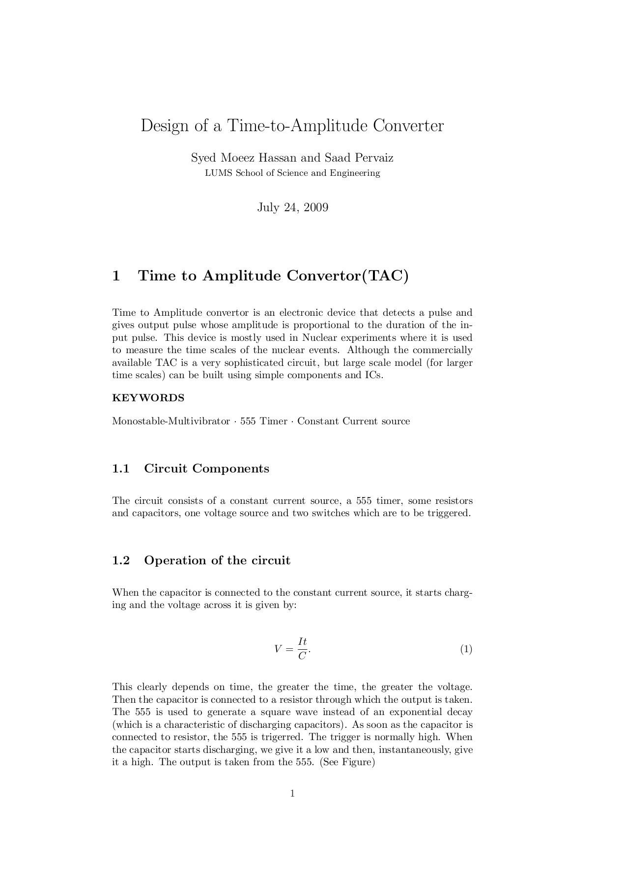 Design Of A Time To Amplitude Converter Lums Fliphtml5 555timermonostableoneshotcircuit