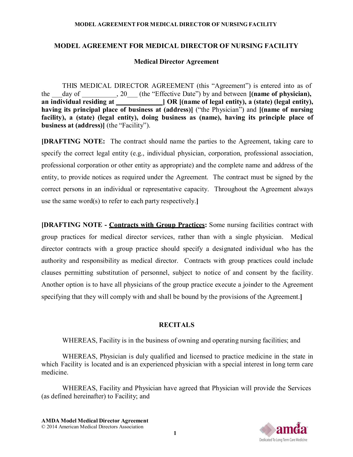 Sample Of Amda Model Agreement Amda