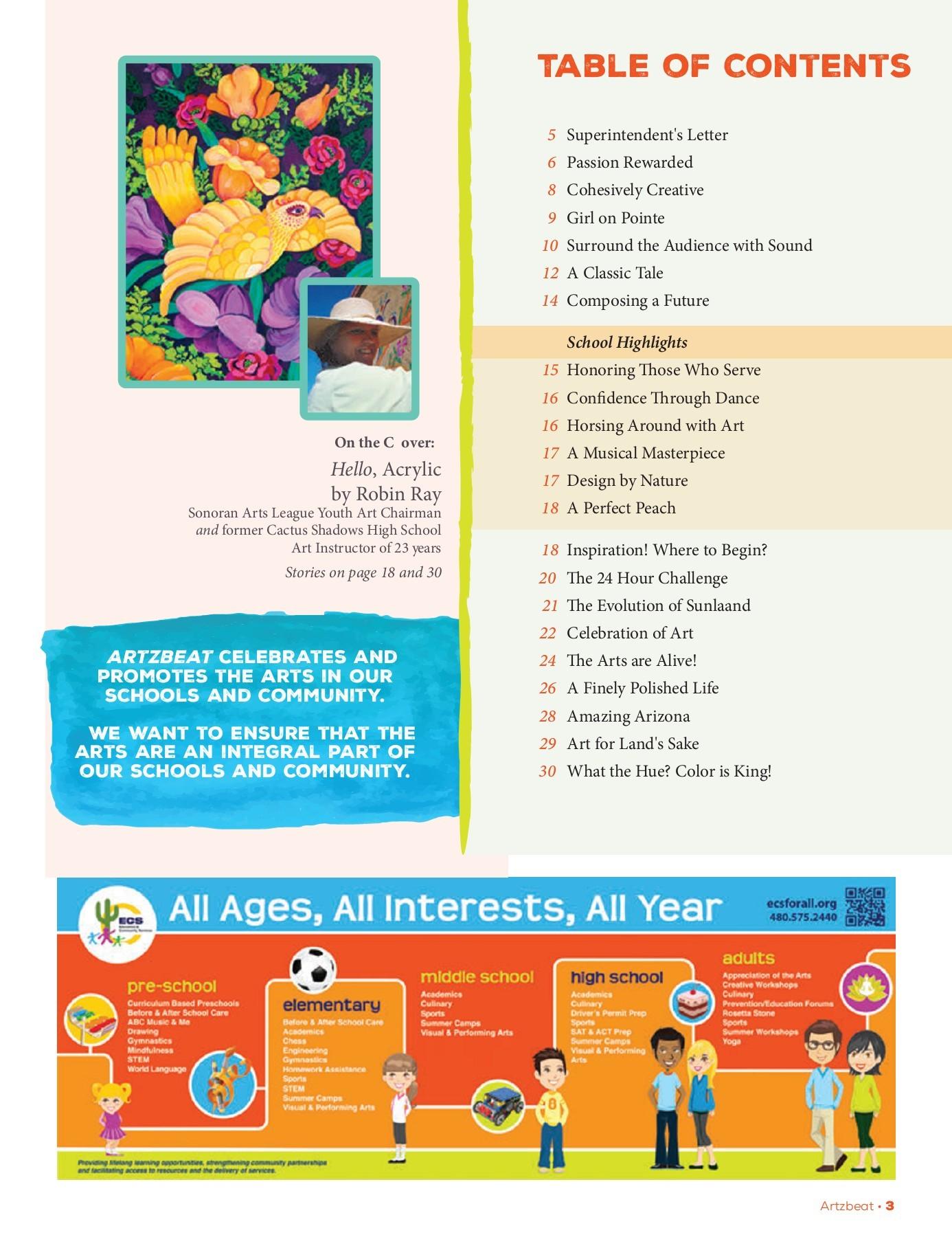 Cactus Shadows Fine Art Center - Education & Community Services
