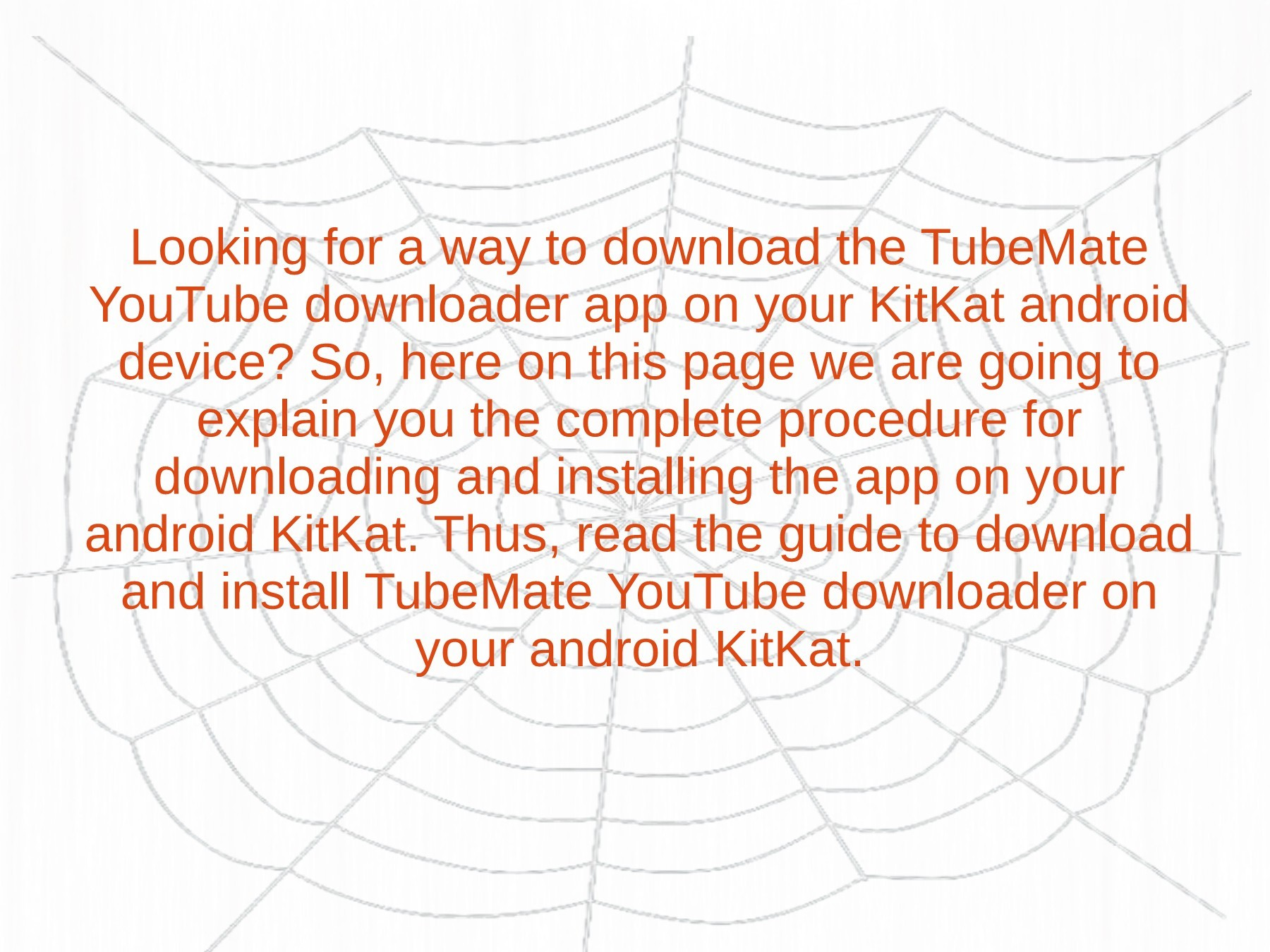 Download TubeMate on your Android KitKat device | PubHTML5