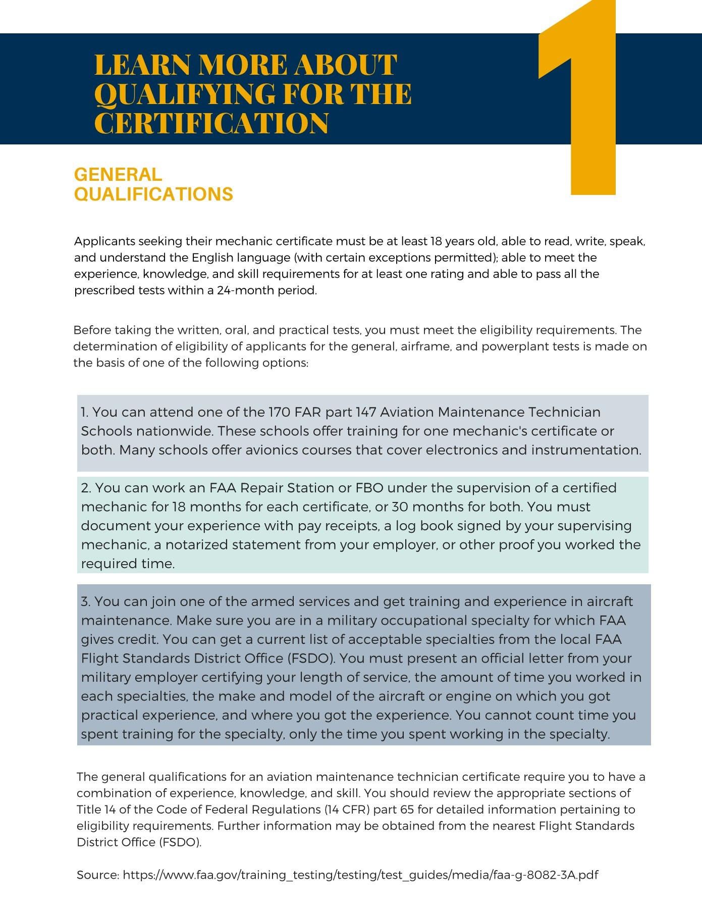 Airframe & Powerplant Prep Course Checklist