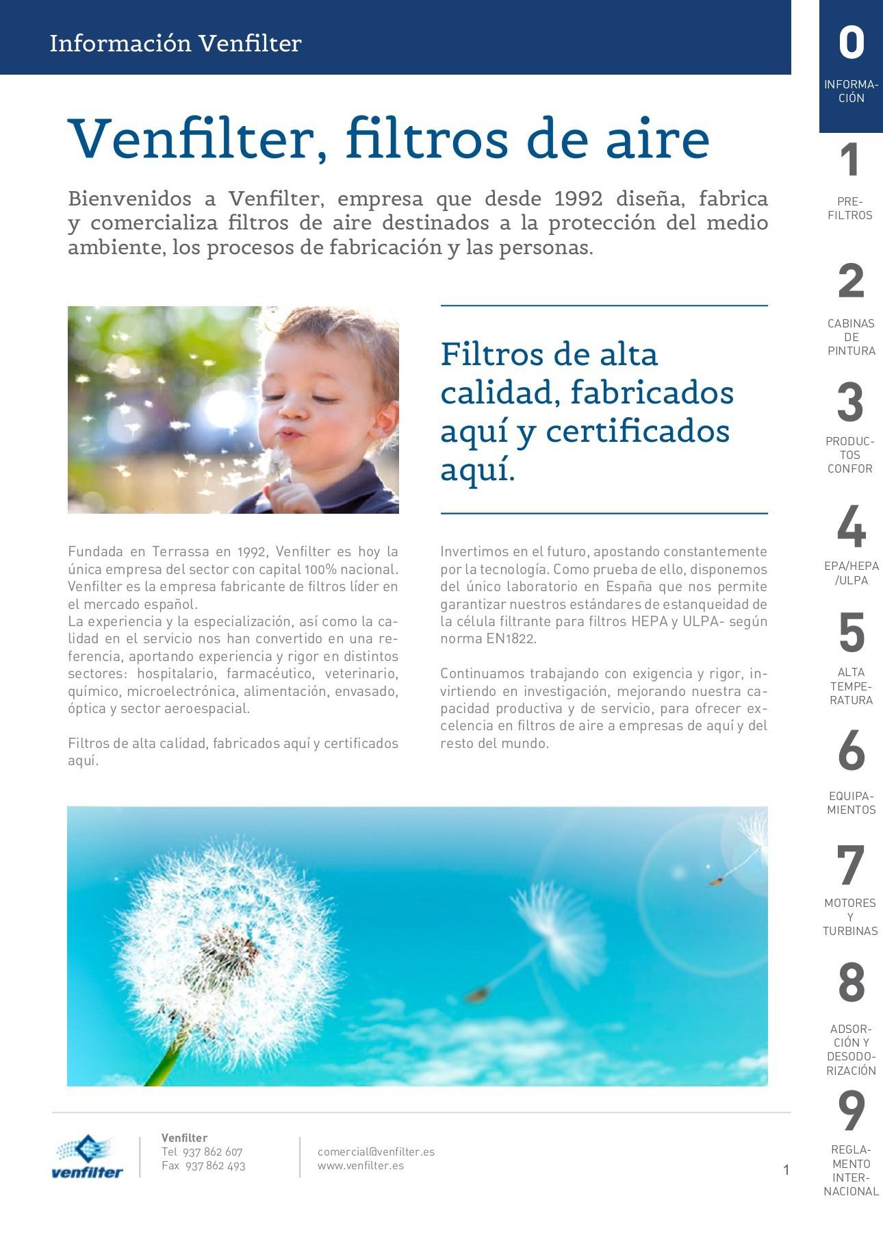 93929850c4 Catálogo de filtros de aire Venfilter