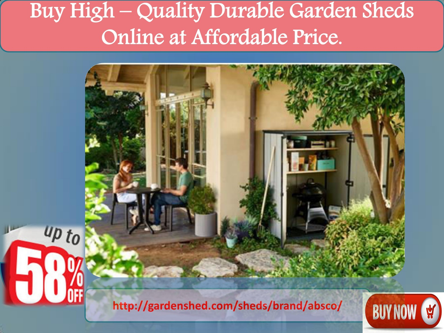 Buy High – Quality Durable Garden Sheds Online at Affordable