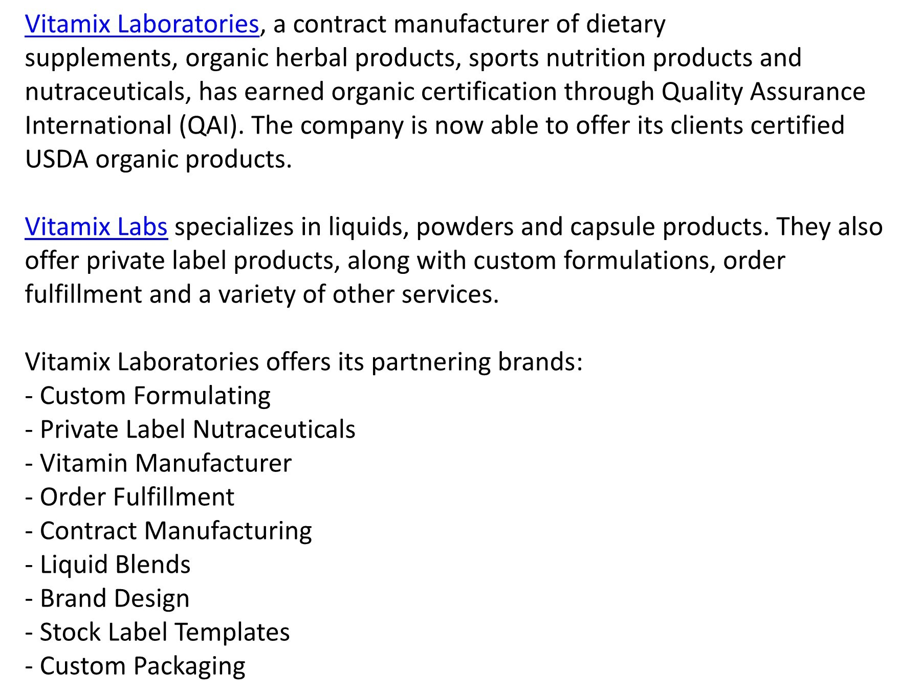Vitamix Laboratories Earns Organic Facility Certification   PubHTML5