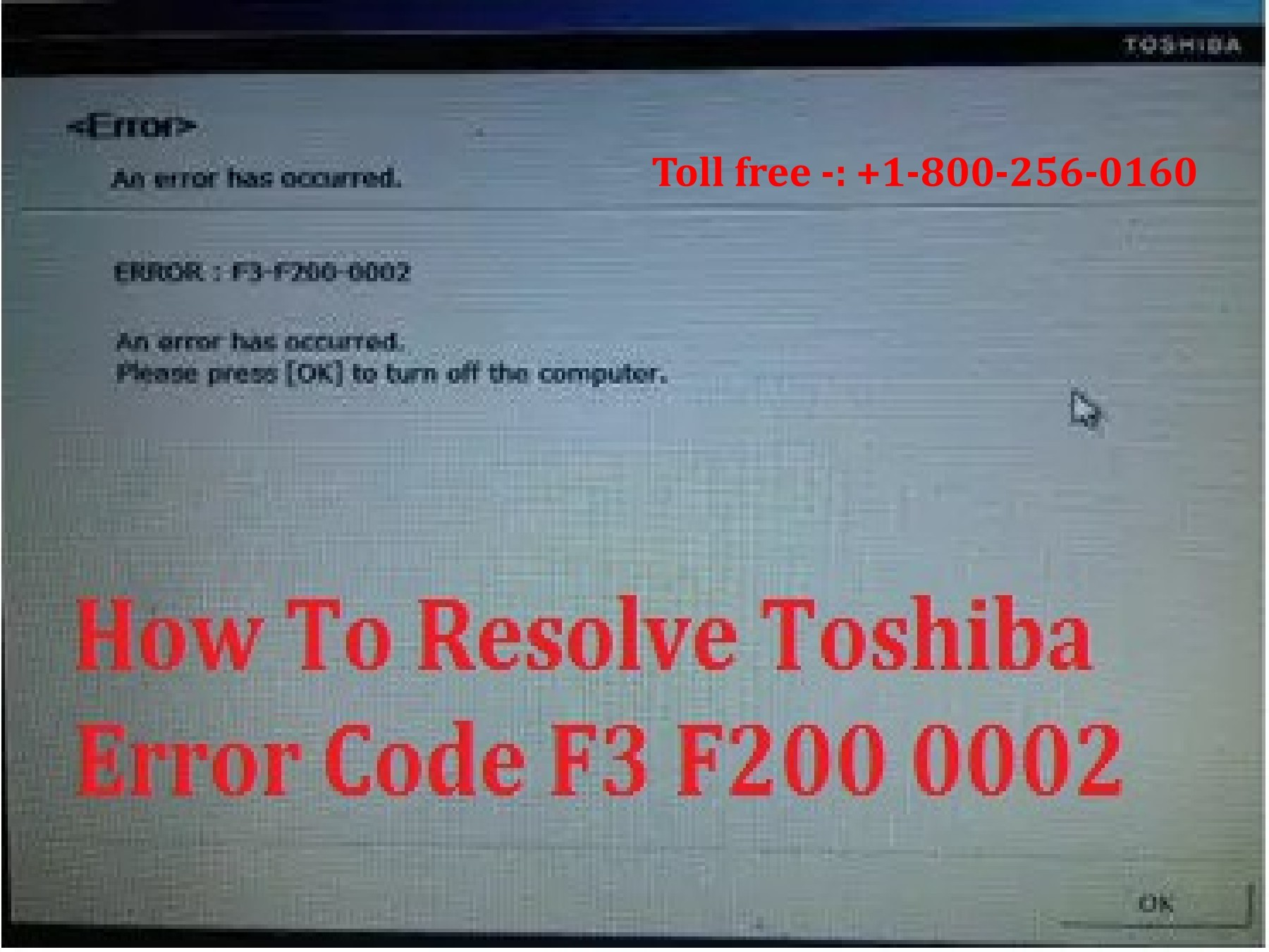 1(800) 256 0160 Resolve Toshiba Error Code f3 f200 0002? | PubHTML5