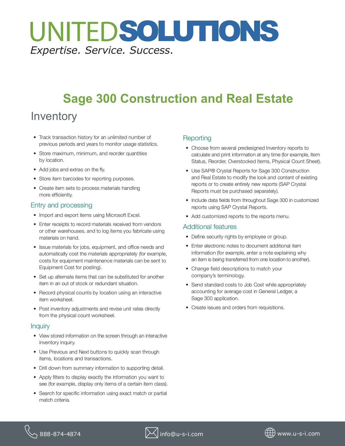 Sage 300 CRE Inventory | United Solutions