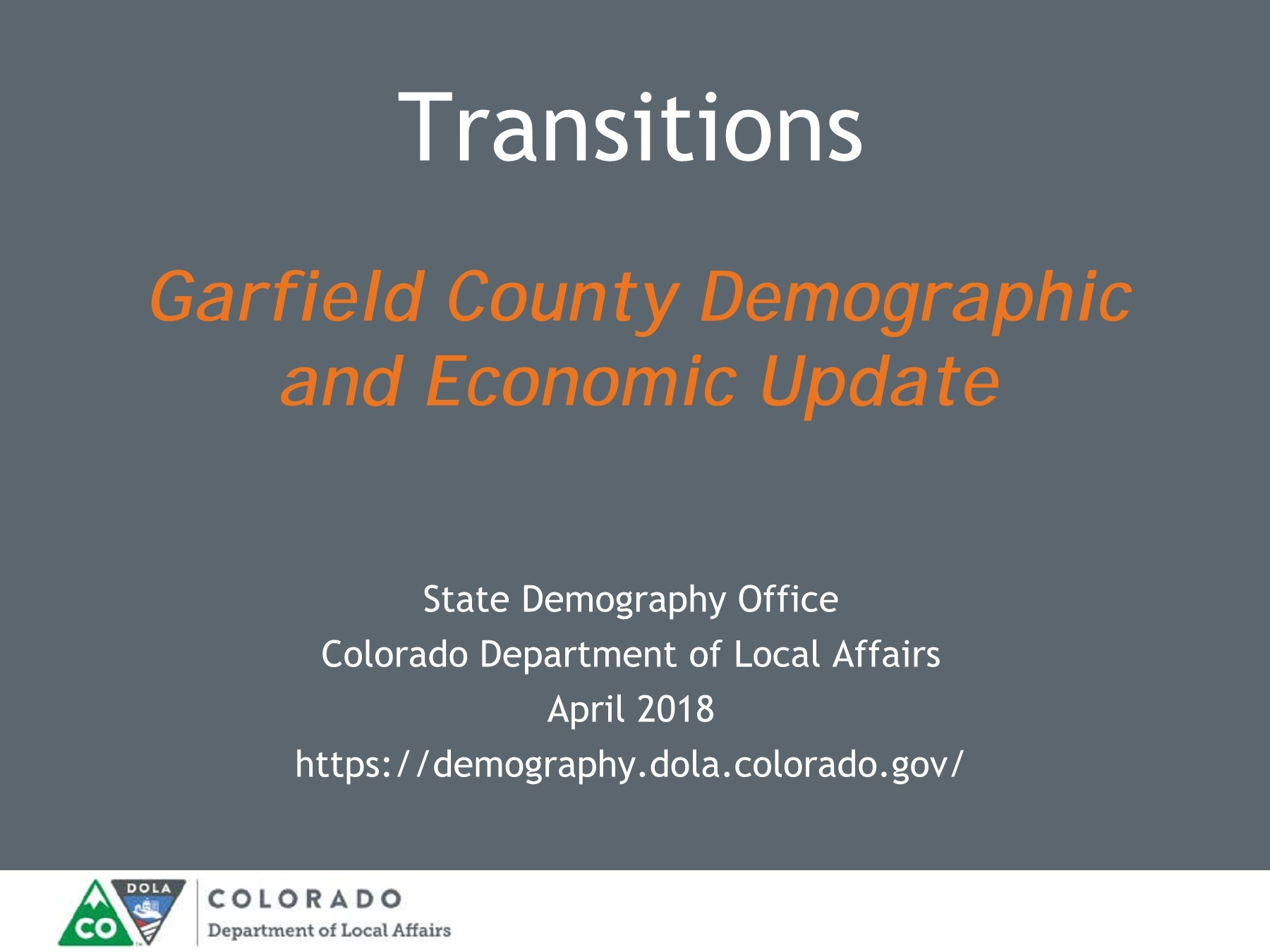 Garfield County demographics
