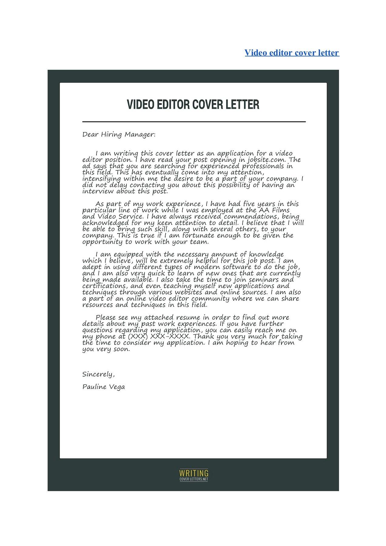 Best Cover Letter Samples Pubhtml5