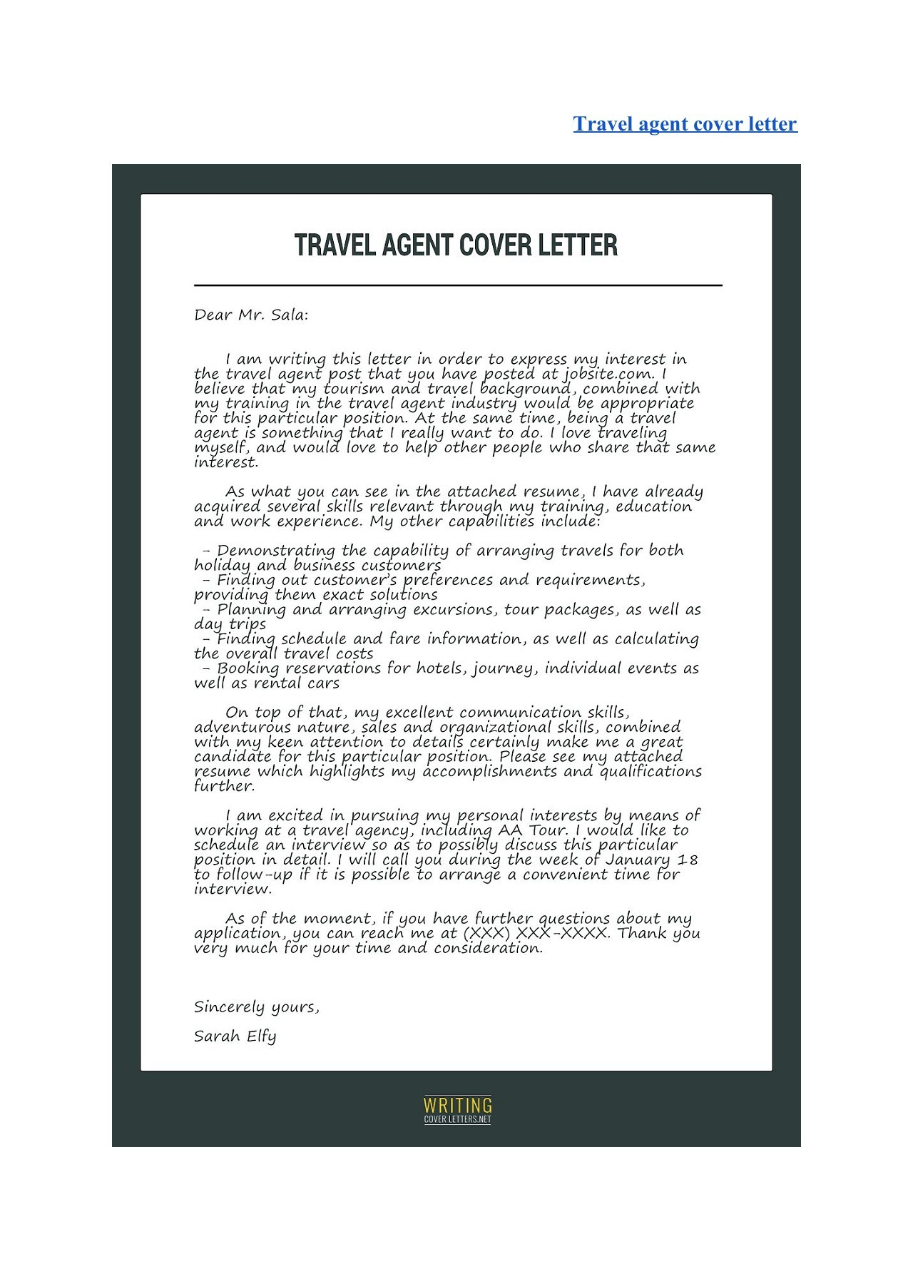Best Cover Letter Samples | PubHTML5