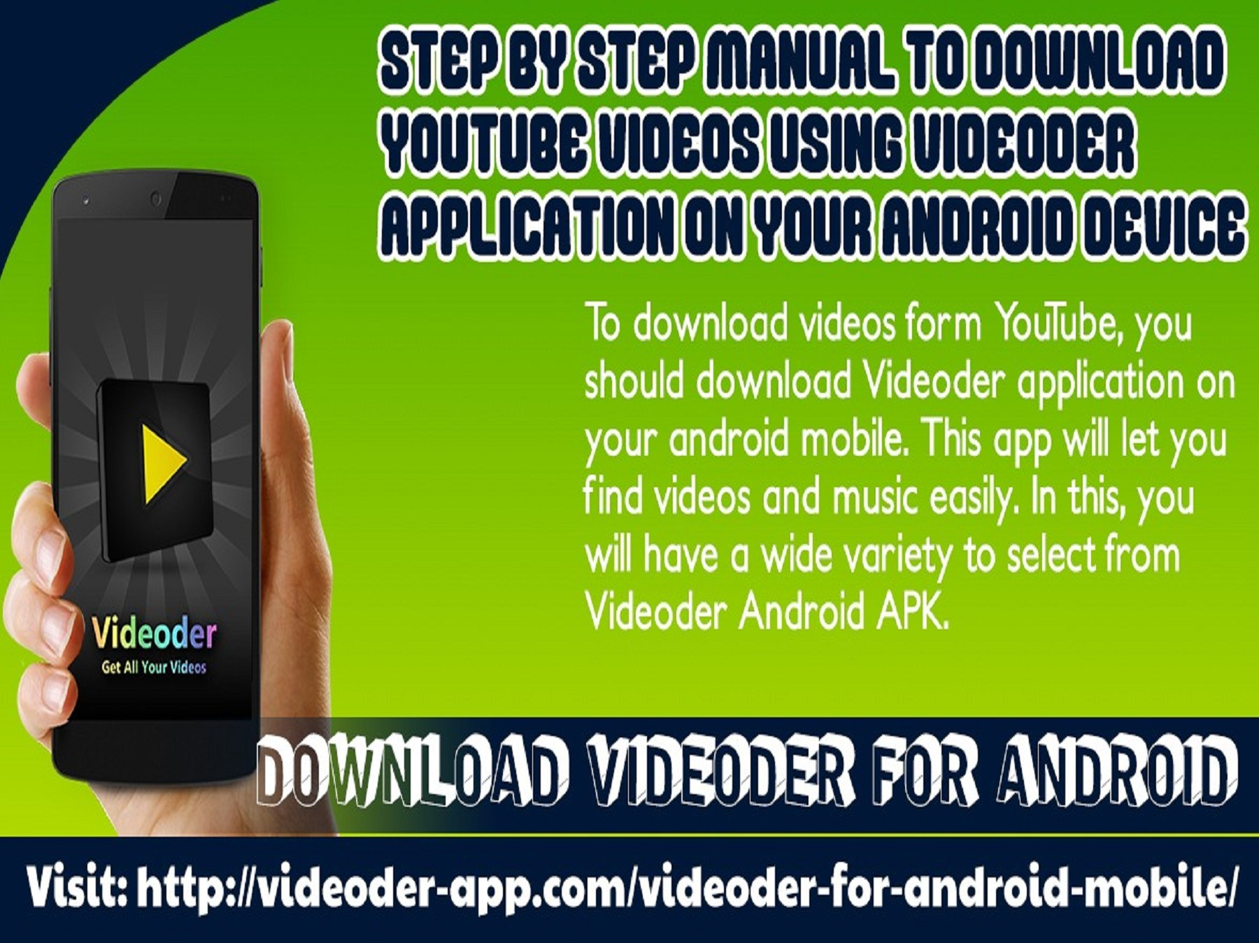 Step By Step Manual To Download YouTube Videos Using Videoder