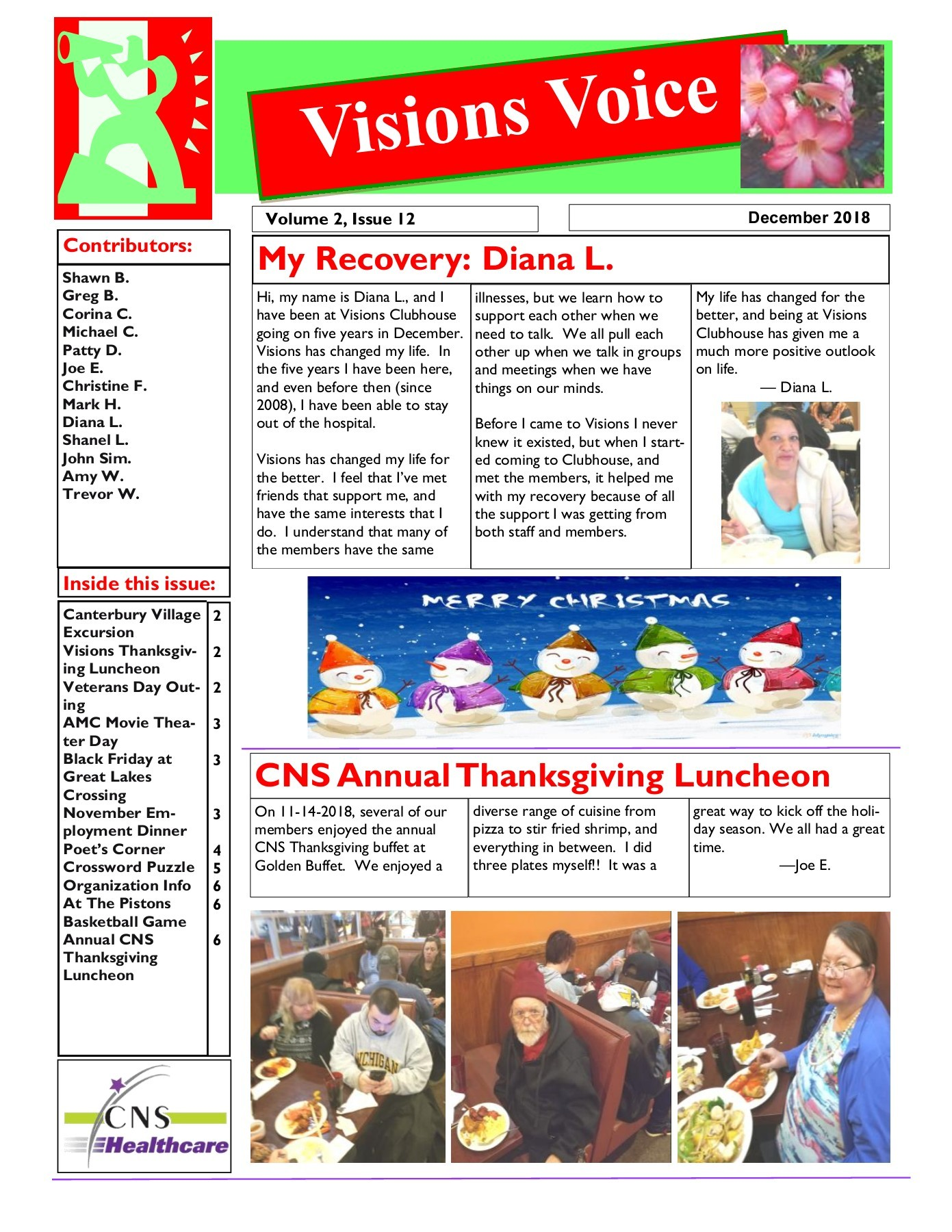 Visions Voice December 2018 – CNS Healthcare