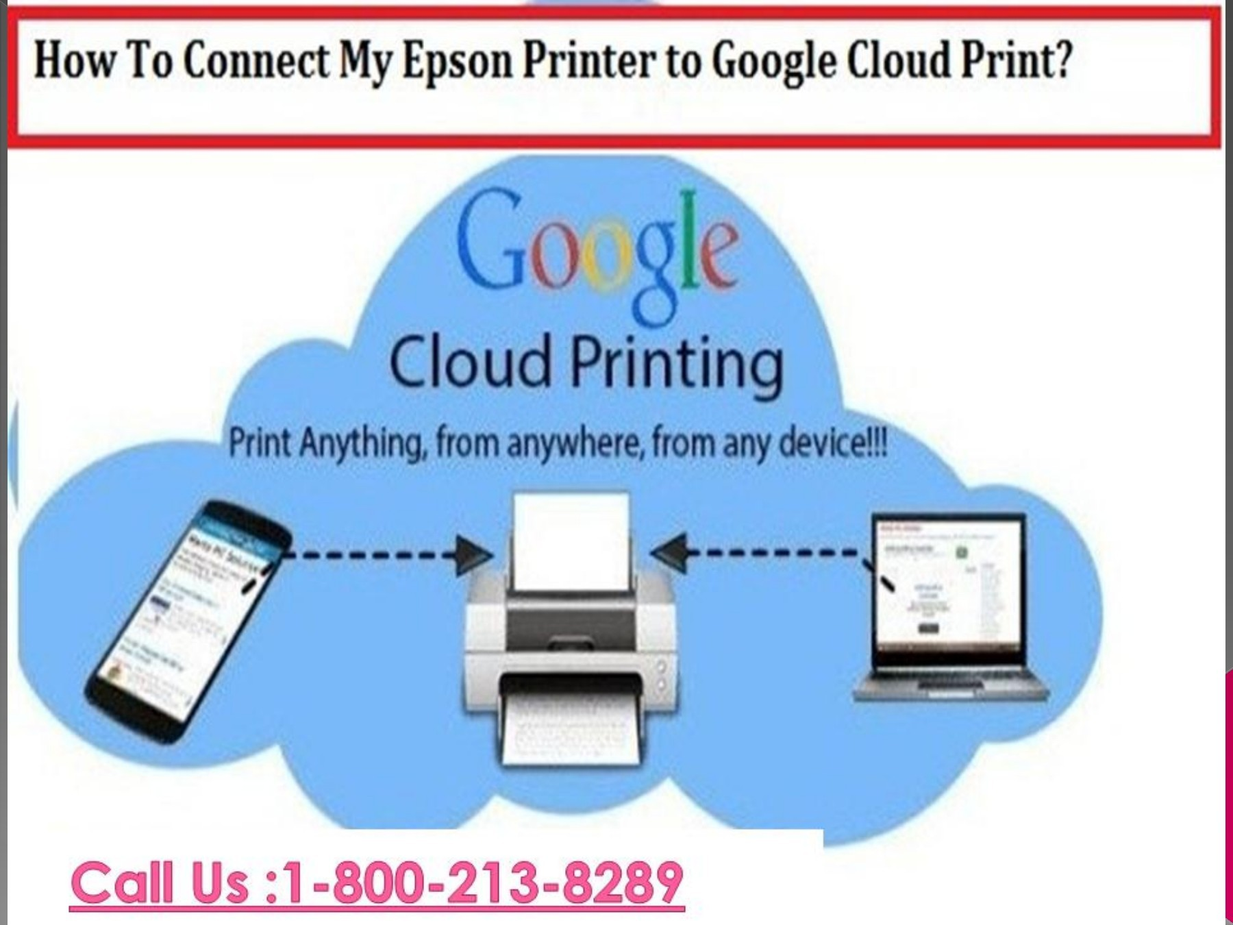 Fix Epson Printer To Google Cloud Print By Dialing 1 800 610 6962
