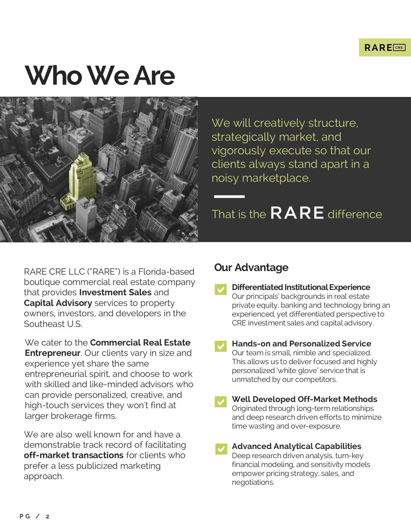 RARE CRE Company Overview | PubHTML5