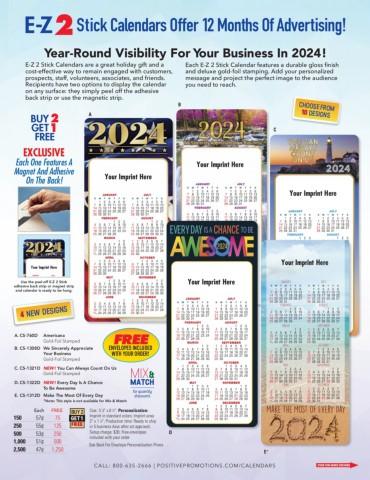 EZ-2 Stick 2020 Calendars