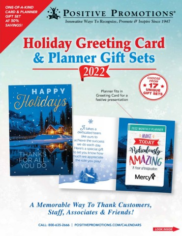 Promotional Holiday Card & Planner Gift Sets