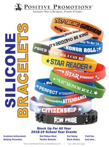 School Education Silicone Bracelets