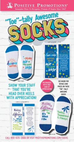 Recognition and appreciation themed cotton socks