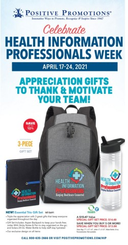 Health Informational Professionals gifts of appreciation and recognition