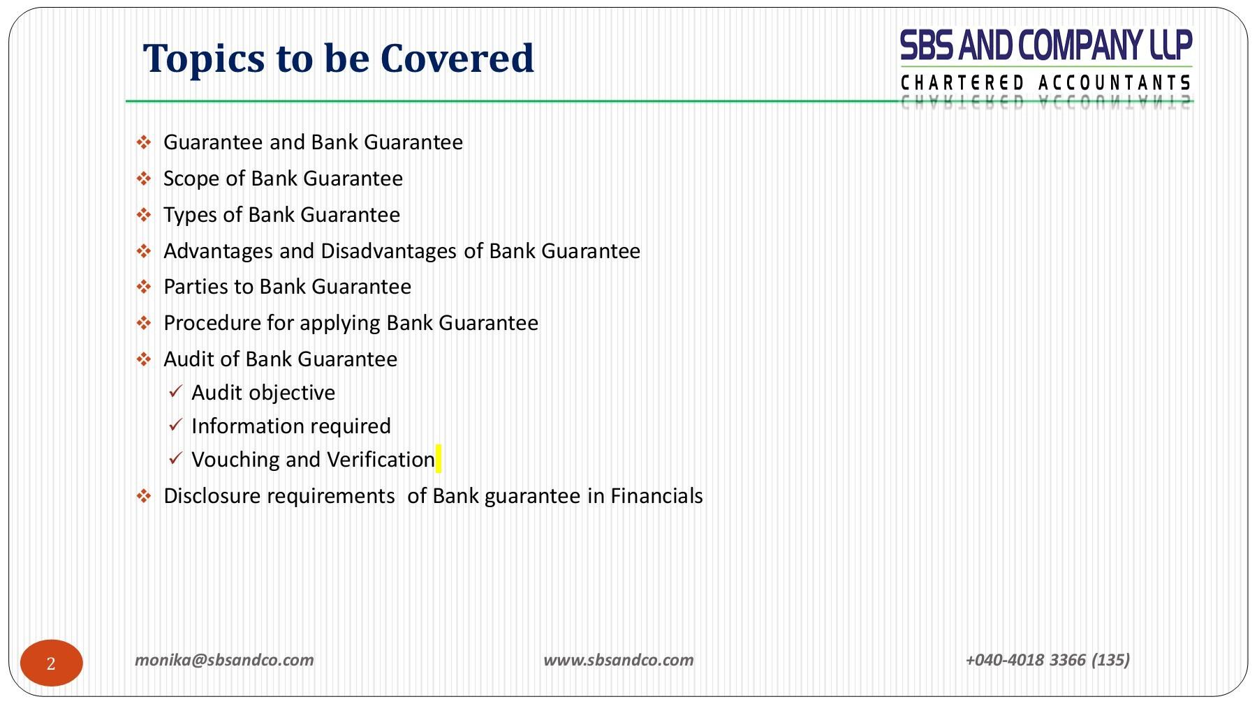 Bank Guarantee Charges   Bank Guarantee Process   Sbsandco