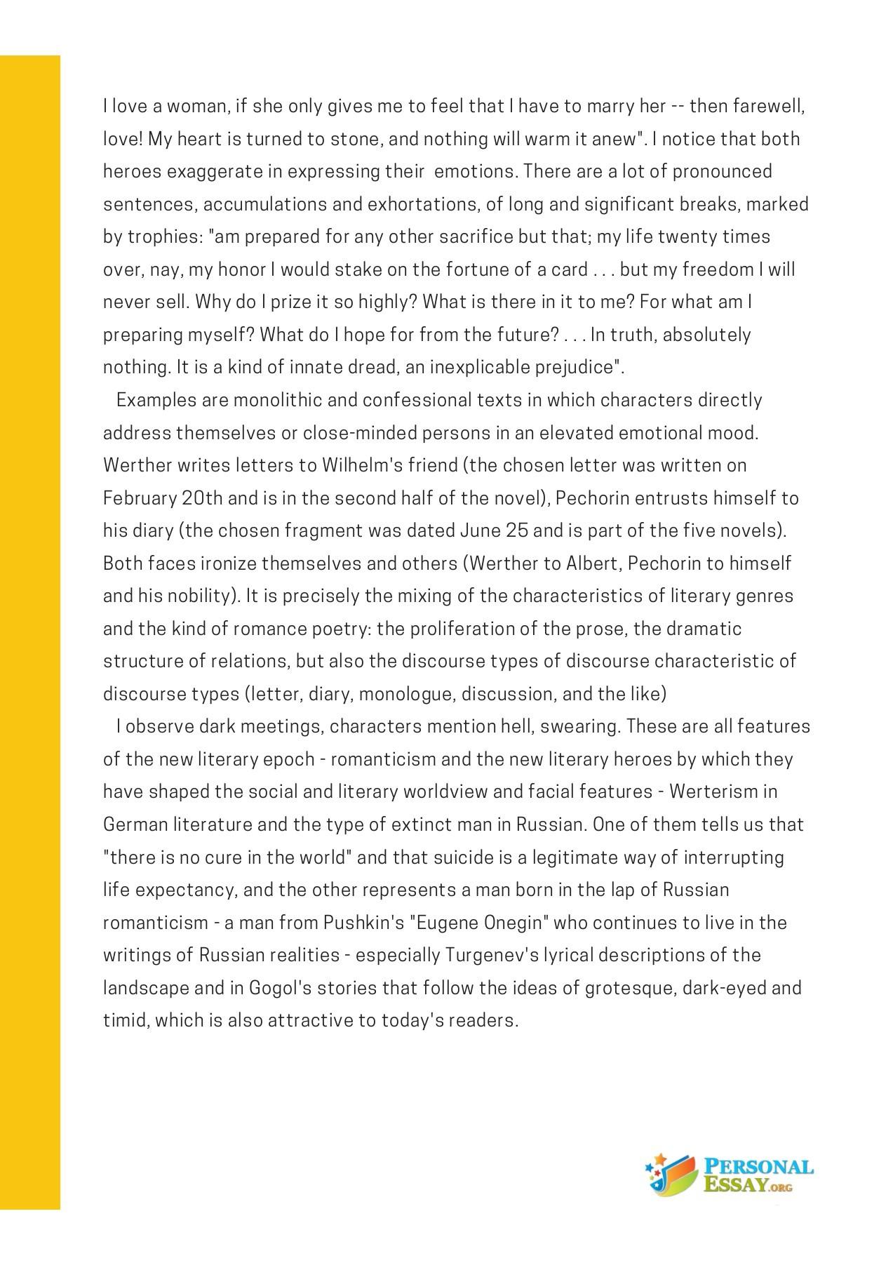 response essay example