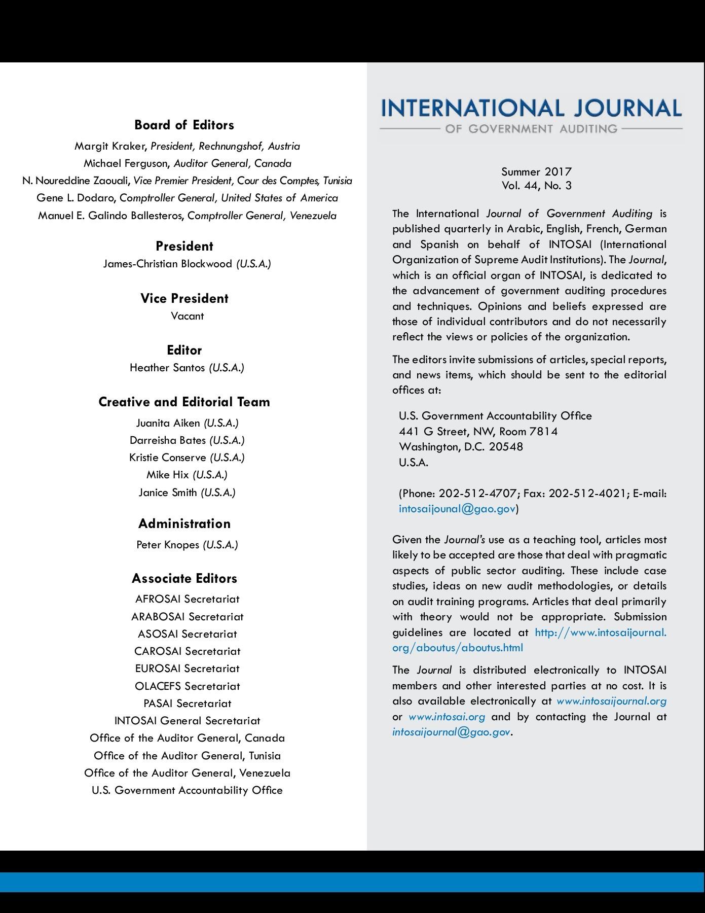 INTOSAI Journal Summer 2017 | PubHTML5