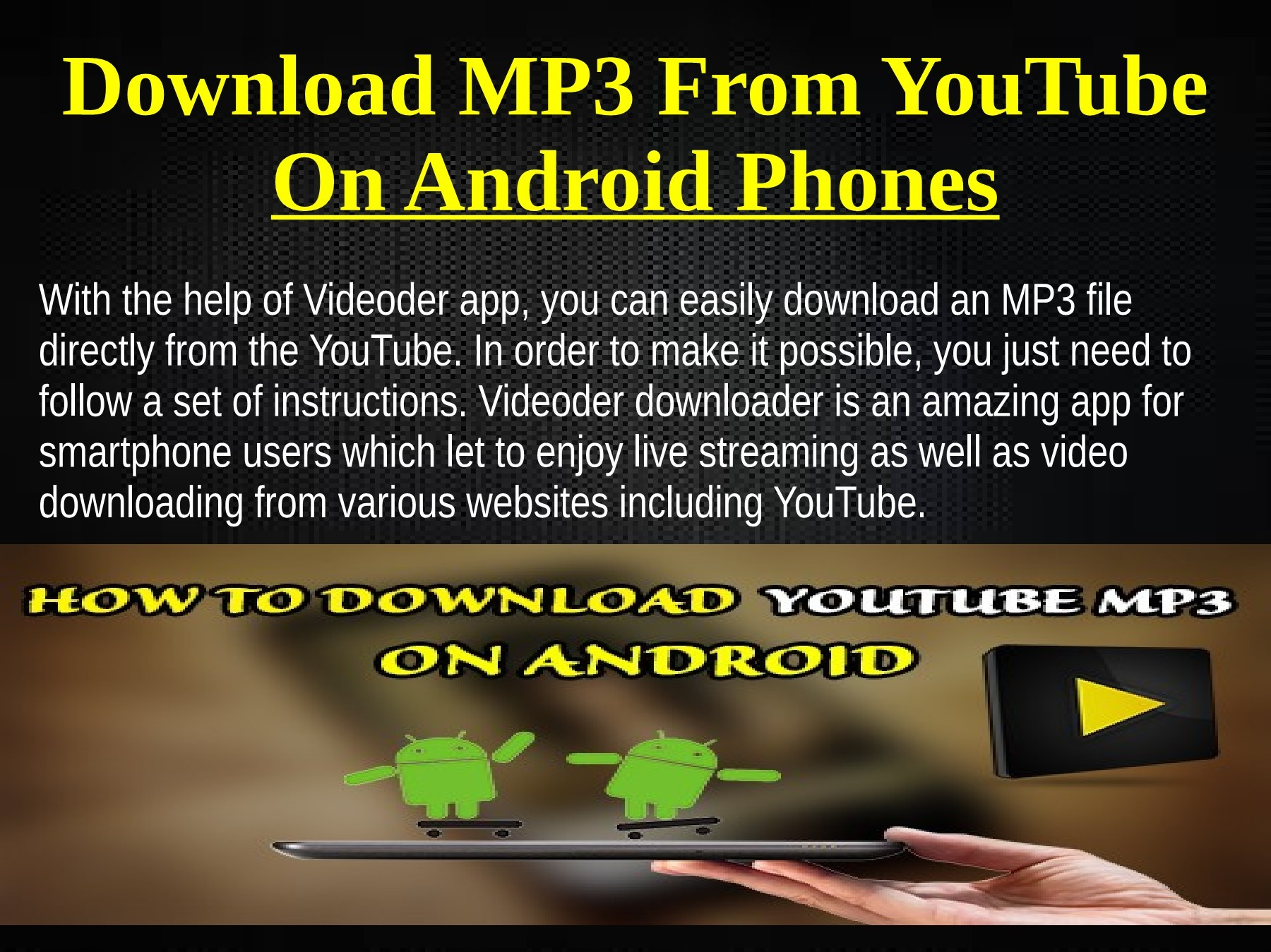 How To Download Mp3 From Youtube Android Best 5 Free YouTube