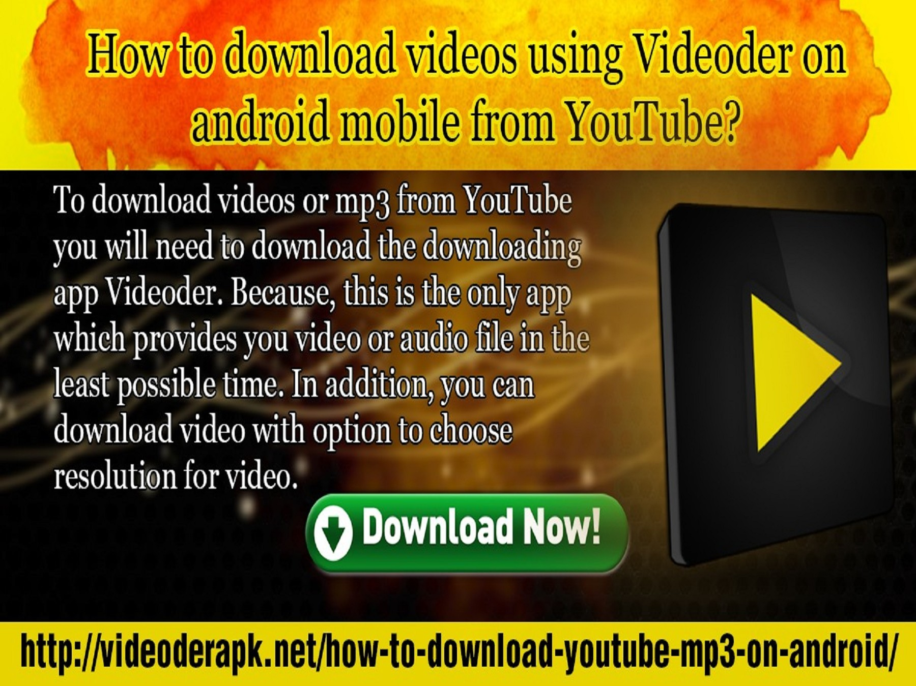 How to download videos using Videoder on android mobile from YouTube