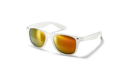 Lentes de Sol Unisex, color blanco con lente tornasol