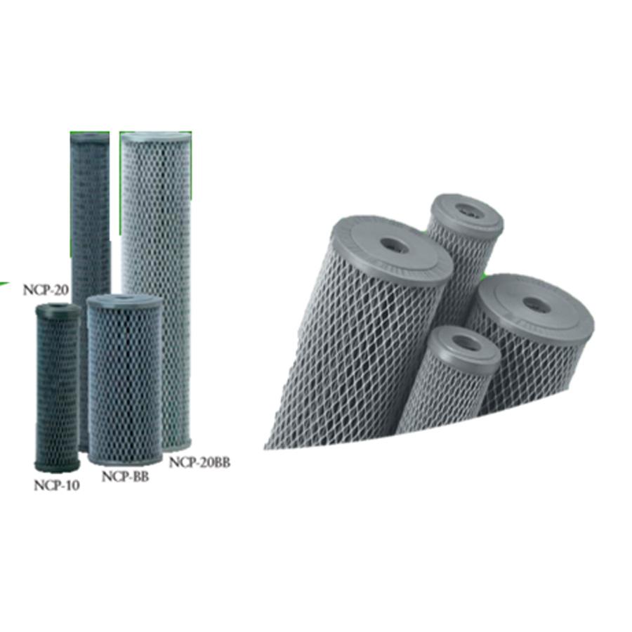 Ncp series non-cellulose carbonimpregnated pleated cartridges