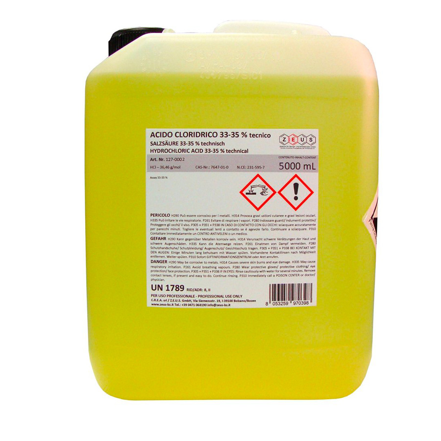 Ácido clorhidrico al 33