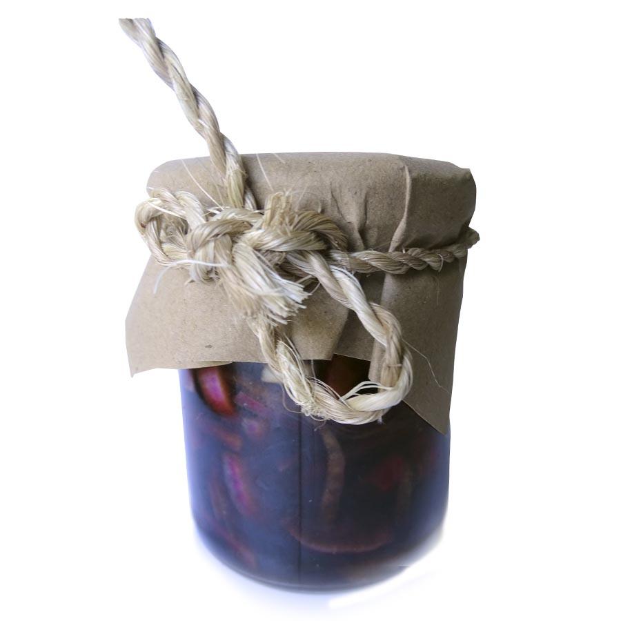 Cebollitas moradas a la vinagreta