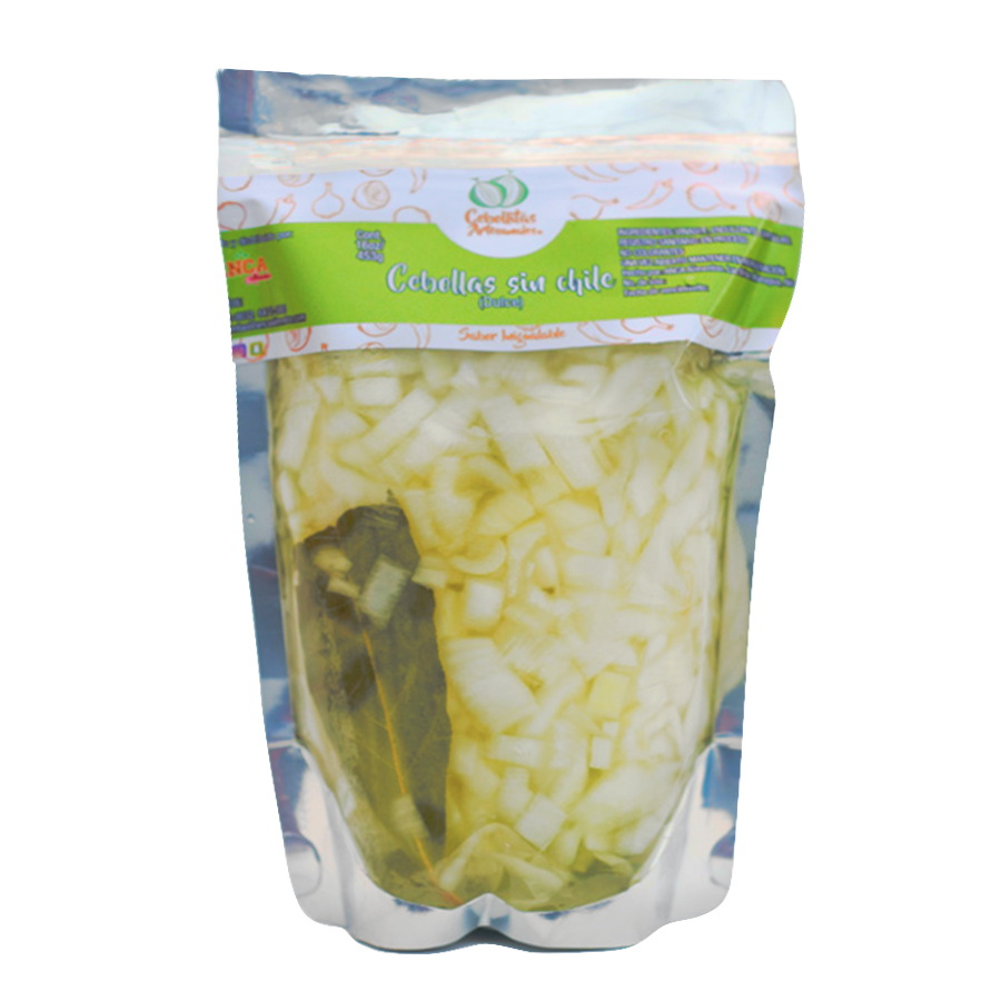 Encurtidos de cebollitas sin chile