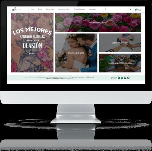 Página web Flores y Diseños