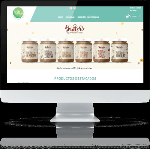 Página web Quinoa Fit & Food