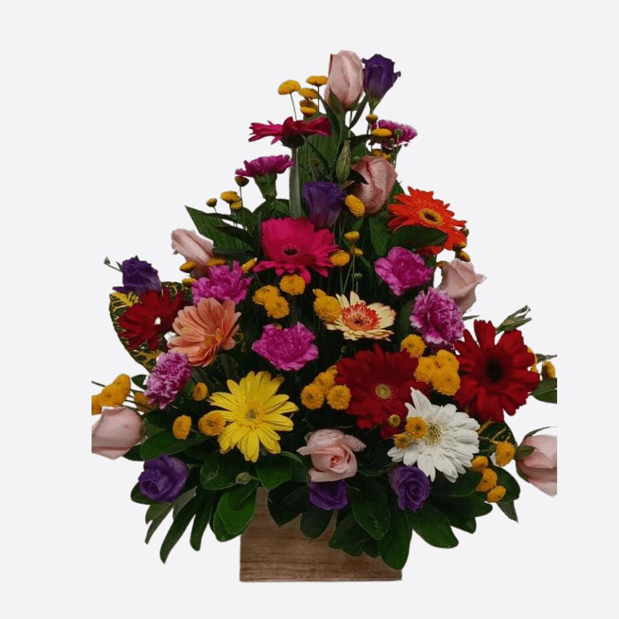 Arreglo de 18 flores primaverales