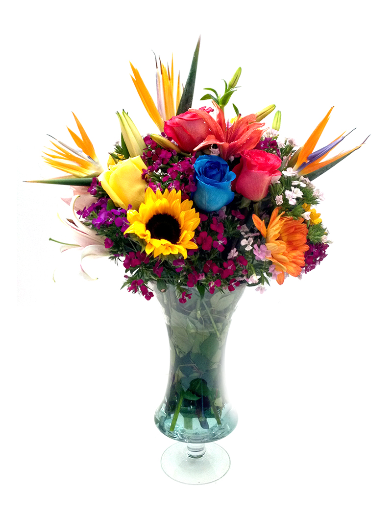Flores con Jarrón