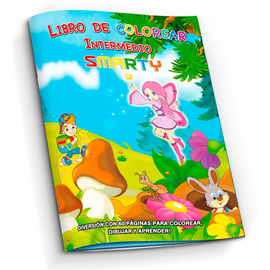 LIBRO PARA COLOREAR SMARTY INTERMEDIO 60 PAG