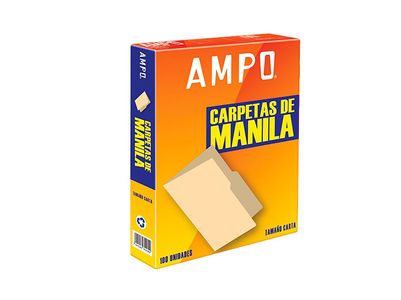 FOLDER AMPO MANILA T/CARTA CAJA 100UDS