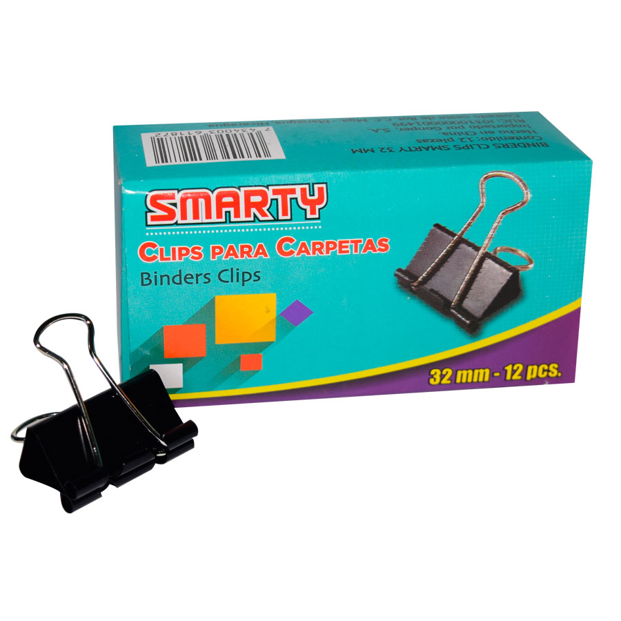 BINDER CLIPS SMARTY SMT-32MM 1 1-4 CJ-12UD