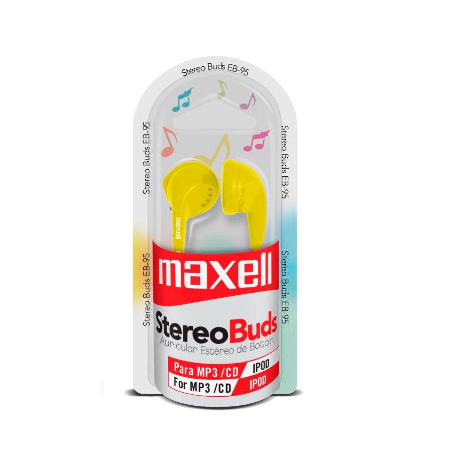 AUDIFONO MAXELL BUDS AMARILLO P-MP3-CD-IPOD EB-95 347263