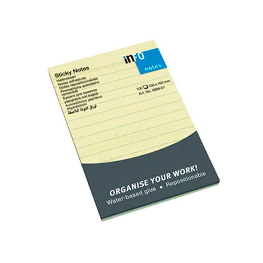 MINIBLOCK INFO NOTES 4X6 AMARILLO RAYADO 100HJ 5669-01