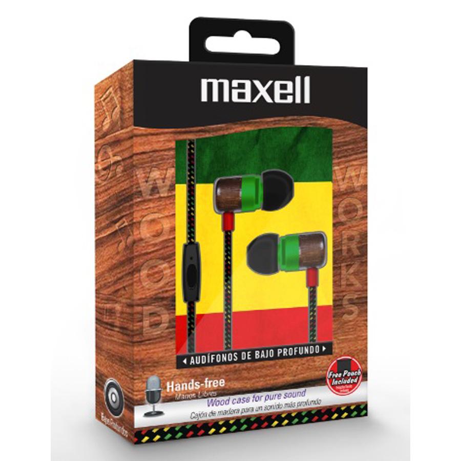 AUDIFONO MAXELL WOOD RAS C-MICROFONO WUD-5 347460