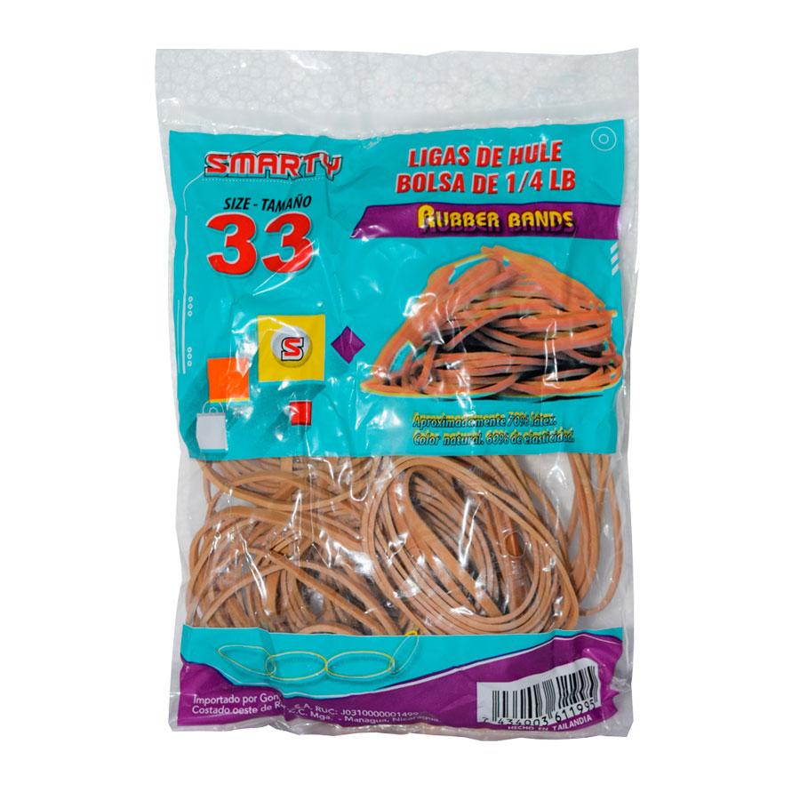 HULES SMARTY Nº33 BOLSA DE 1-4 LB NATURAL 70% RUB-BAN33