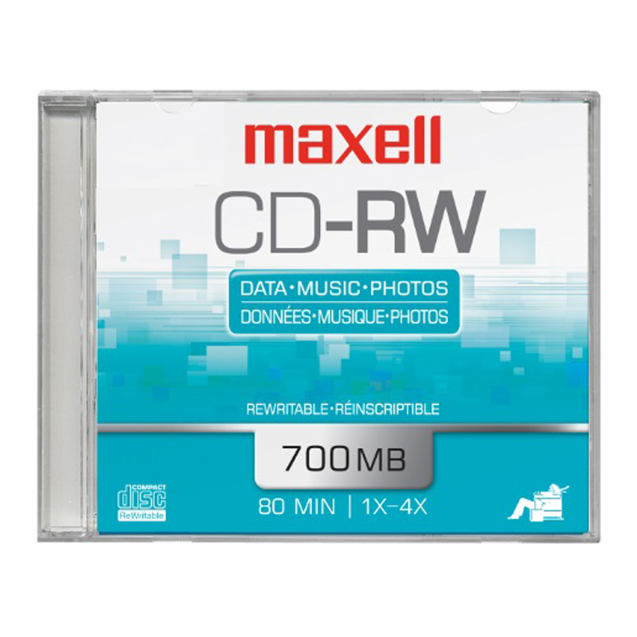 DISCO MAXELL CD-RW 700 MB-80 MIN 4X REESCRIBIBLE 630010