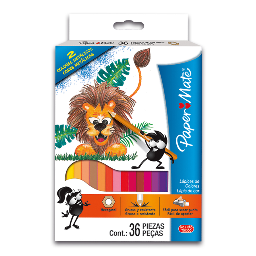 LAPICES COLOR PAPERMATE 36COL LARGO 1746747