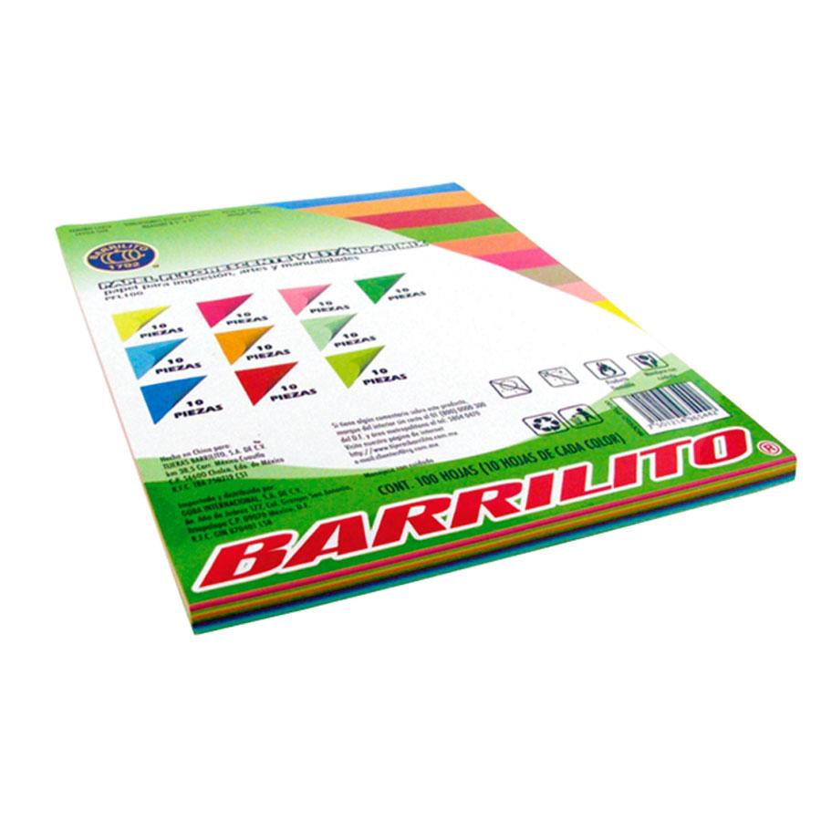 PAPEL BOND 40 BARRILITO FLUORESCENTE 8.5X11 75GR T-C PQ-100HJ PFL100